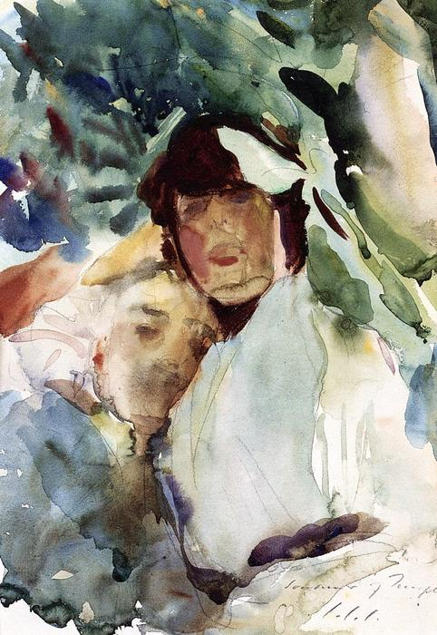 famous painting Ena Wertheimer with Antonio Mancini of John Singer Sargent