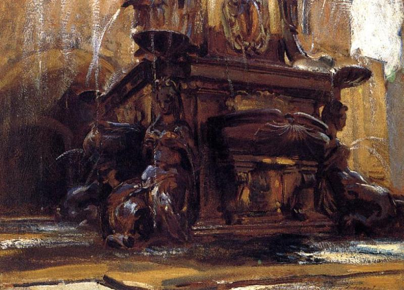 famous painting Fountain at Bologna of John Singer Sargent