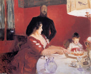 John Singer Sargent - Fête Familiale. The Birthday Party