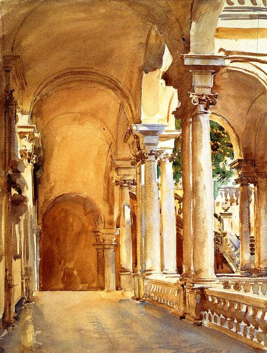 famous painting Genoa, the University of John Singer Sargent