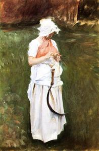 John Singer Sargent - Girl with a Sickle