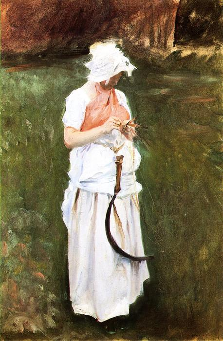 famous painting Girl with a Sickle of John Singer Sargent