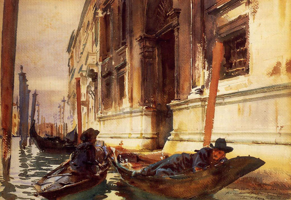 famous painting Gondoliers's-Siesta of John Singer Sargent