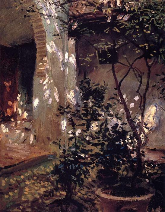 famous painting Granada. Sunspots of John Singer Sargent