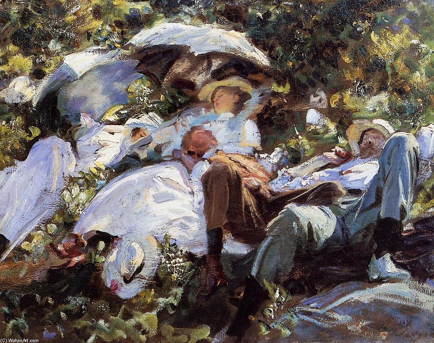 famous painting Group with Parasols of John Singer Sargent