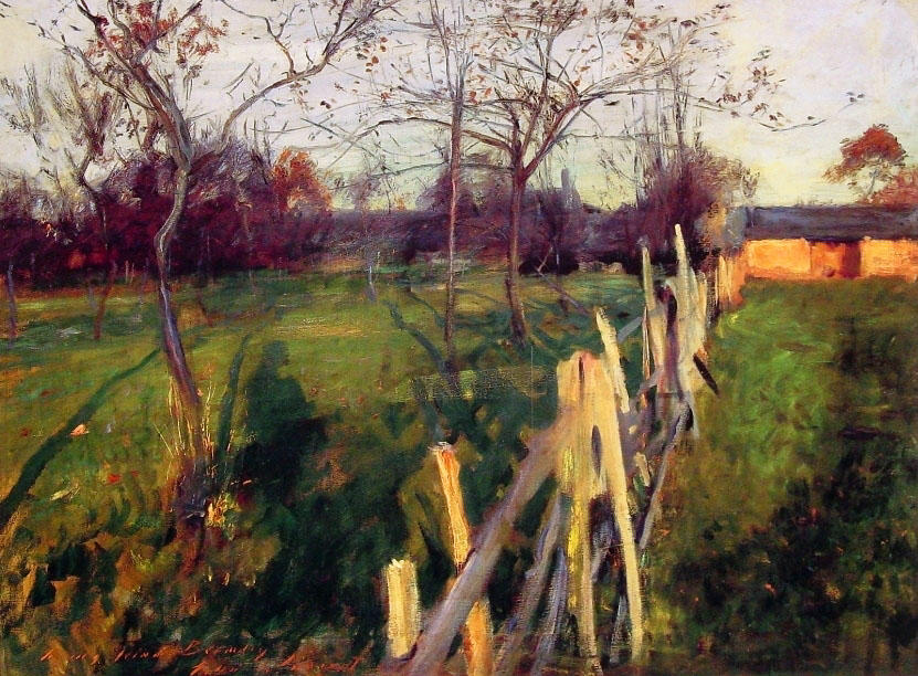 famous painting Home Fields of John Singer Sargent
