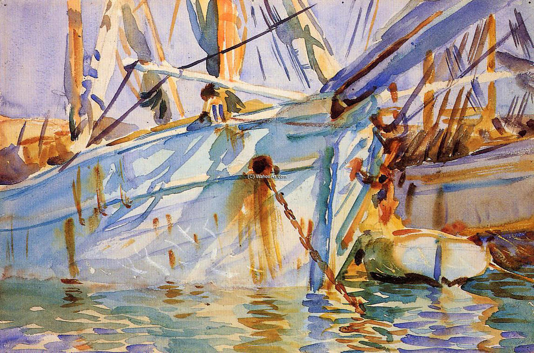 famous painting In a Levantine Port of John Singer Sargent