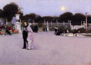 John Singer Sargent - In the Luxembourg Garden