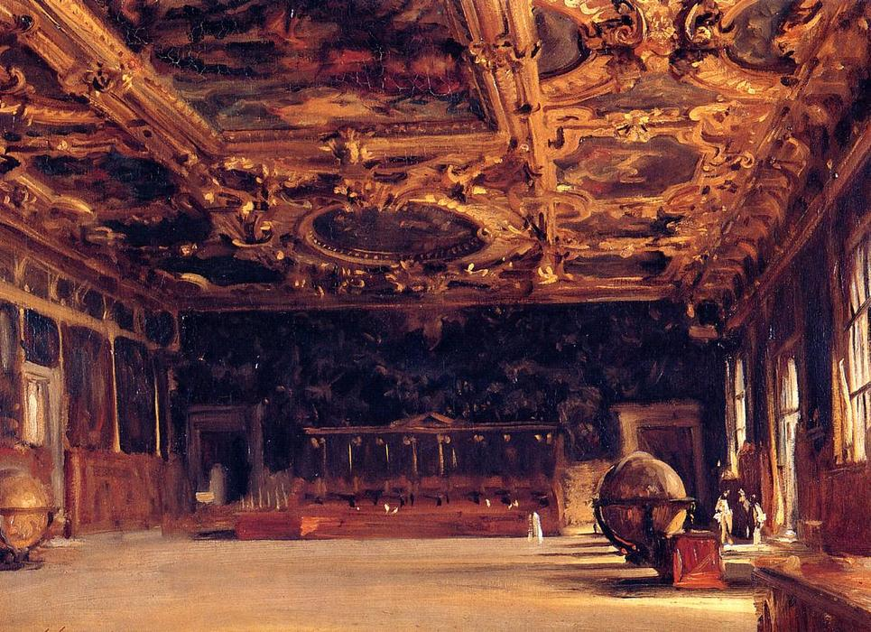 famous painting Interior of the Doge's Palace of John Singer Sargent