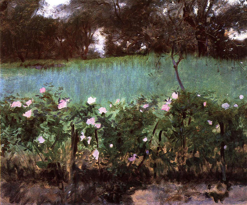famous painting Landscape with Rose Trellis of John Singer Sargent