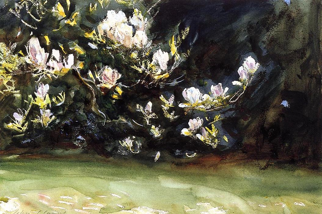 famous painting Magnolias of John Singer Sargent