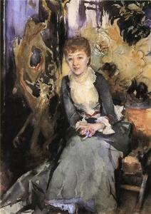 John Singer Sargent - Miss Reubell Seated in Front of a Screen