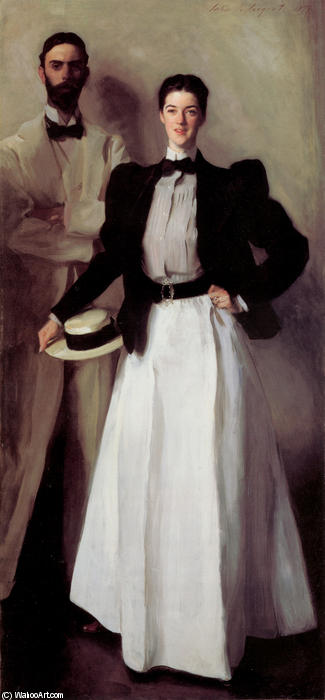 famous painting Mr. and Mrs. Isaac Newton Phelps Stokes of John Singer Sargent