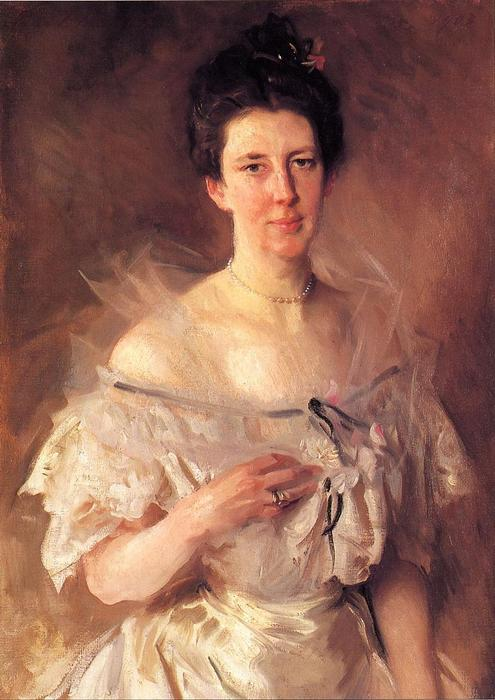 famous painting Mrs. Gardiner Greene Hammond (Esther Fiske Hammond) of John Singer Sargent