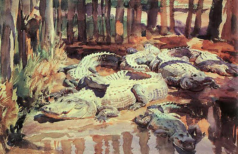 famous painting Muddy Aligators of John Singer Sargent