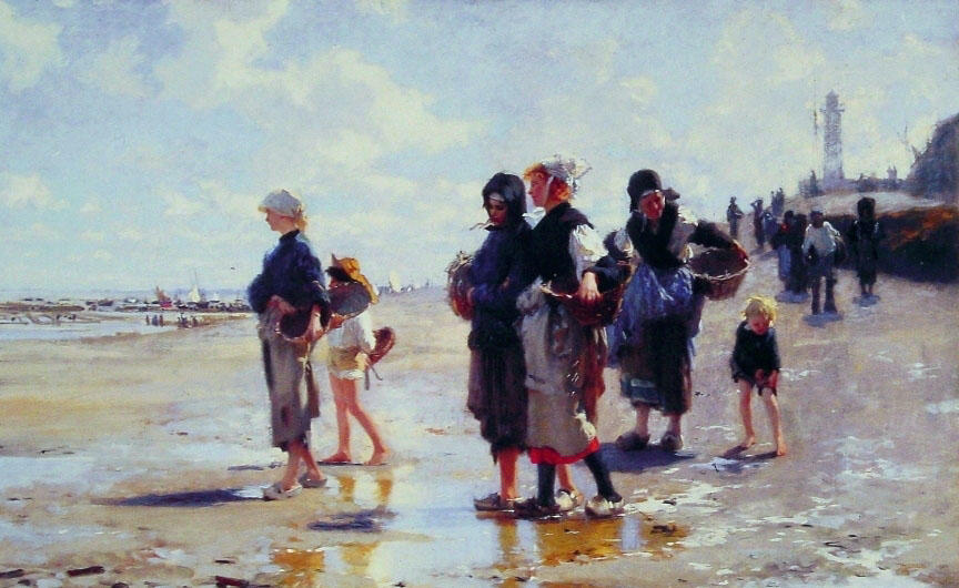 famous painting Oyster Gatherers of Cancale of John Singer Sargent