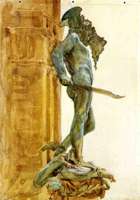famous painting Perseus, Florence of John Singer Sargent