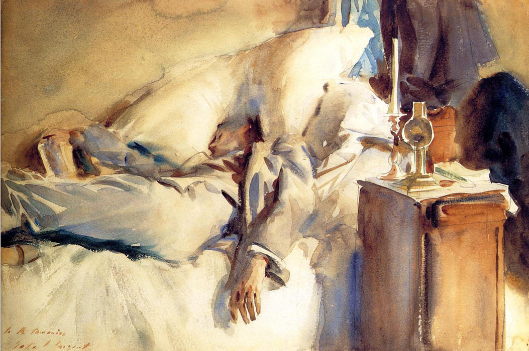 famous painting Peter Harrison Asleep of John Singer Sargent