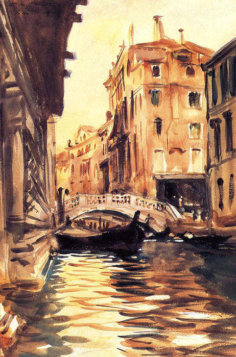 famous painting Ponte della Canonica of John Singer Sargent