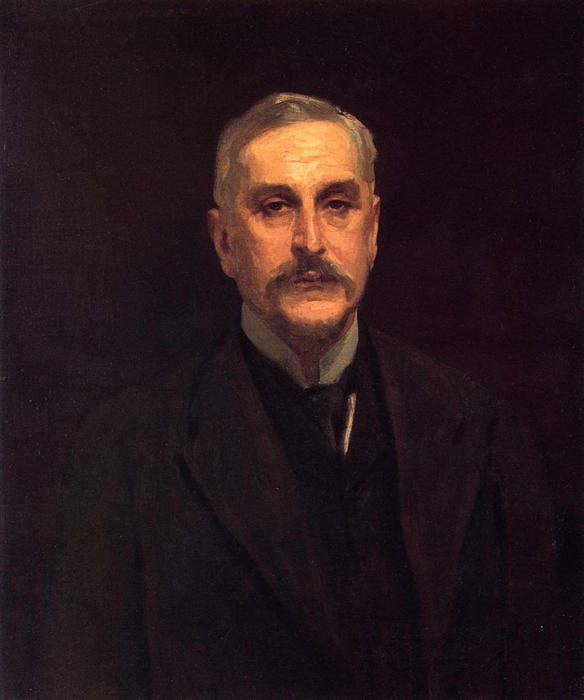 famous painting Portrait of Colonel Thomas Edward Vickers of John Singer Sargent