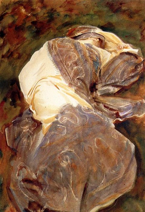 famous painting Reclining Figure of John Singer Sargent