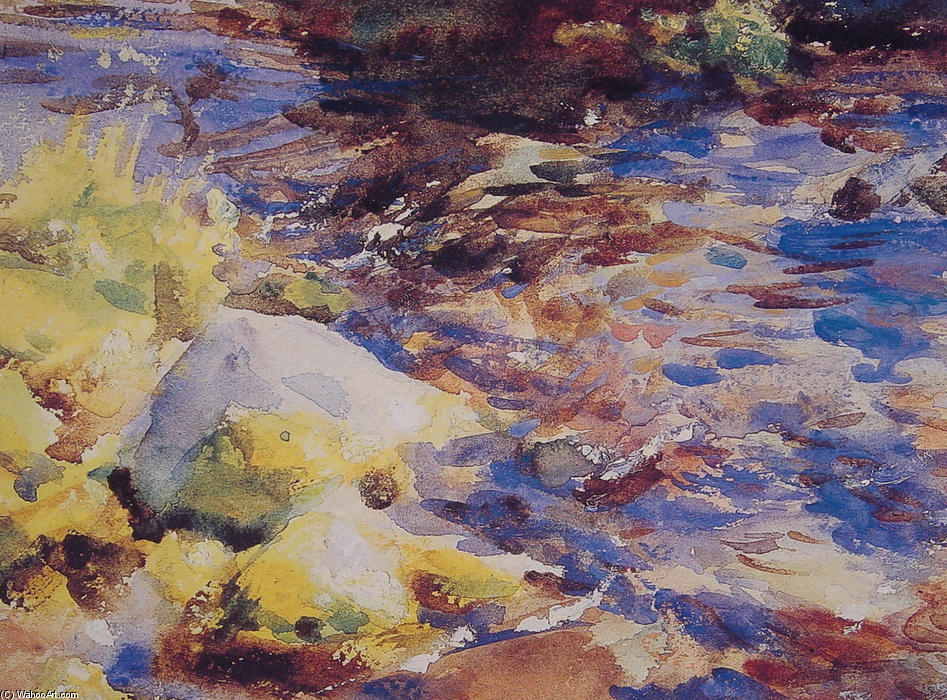 famous painting Reflections Rocks and Water of John Singer Sargent