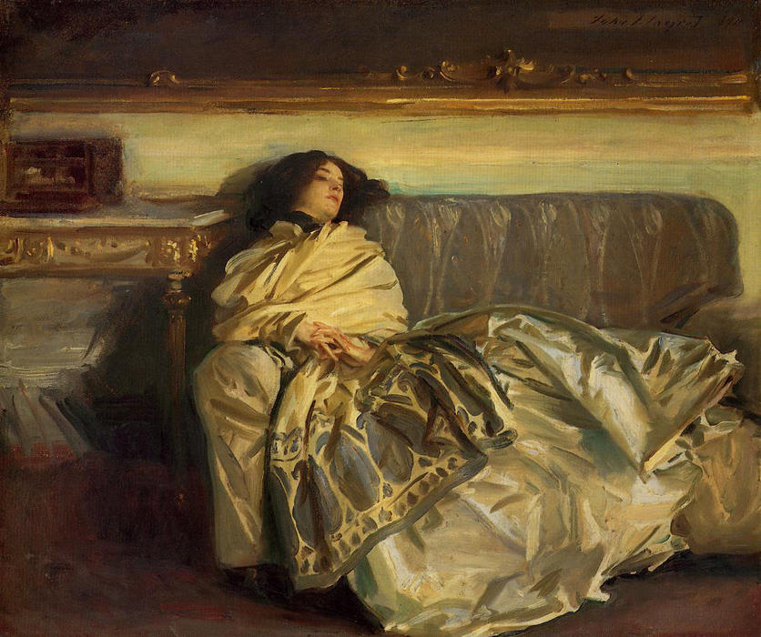 famous painting Repose of John Singer Sargent