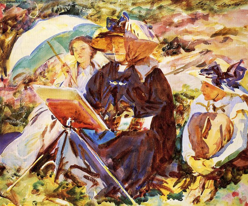 famous painting Simplon Pass. The Lesson of John Singer Sargent