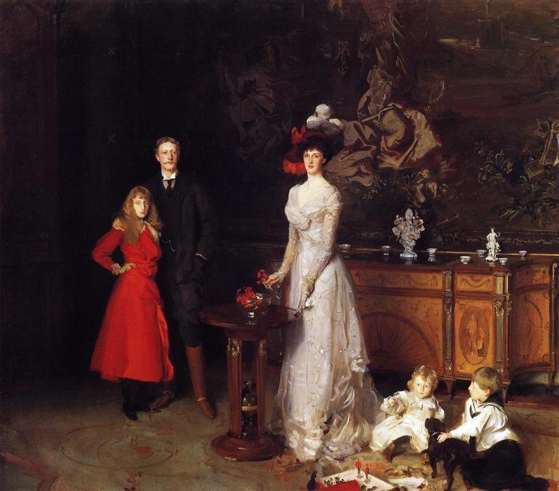 famous painting Sir George Sitwell, Lady Ida Sitwell and Family of John Singer Sargent
