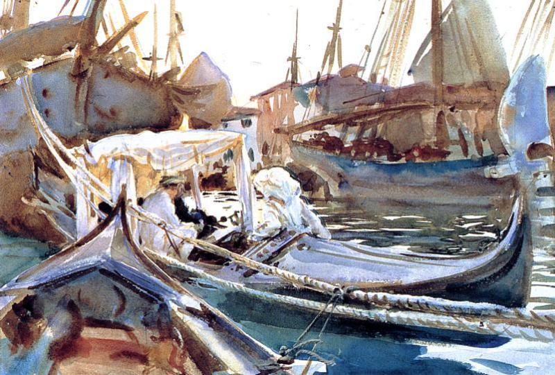 famous painting Sketching on the Giudecca of John Singer Sargent