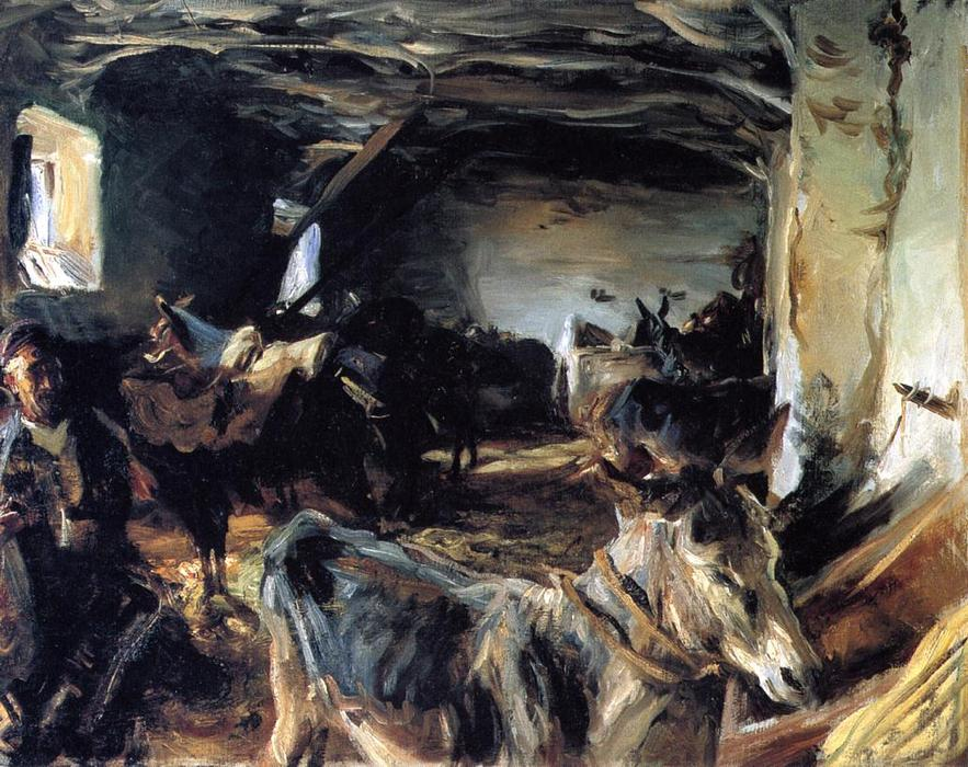 famous painting Stable at Cuenca of John Singer Sargent