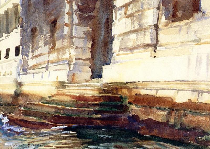 famous painting Steps of a Palace of John Singer Sargent