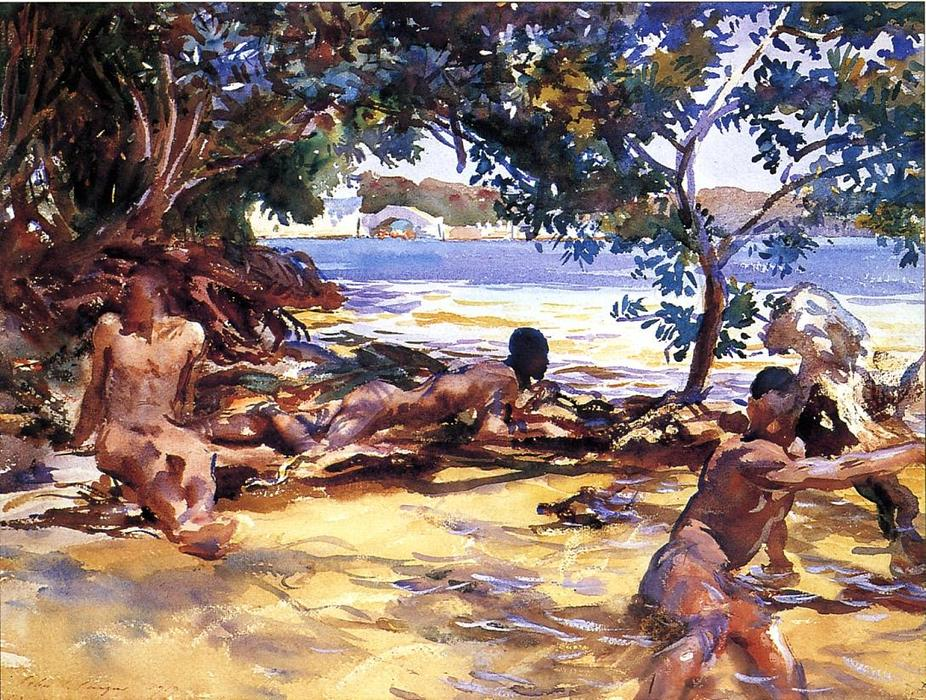 famous painting The Bathers of John Singer Sargent