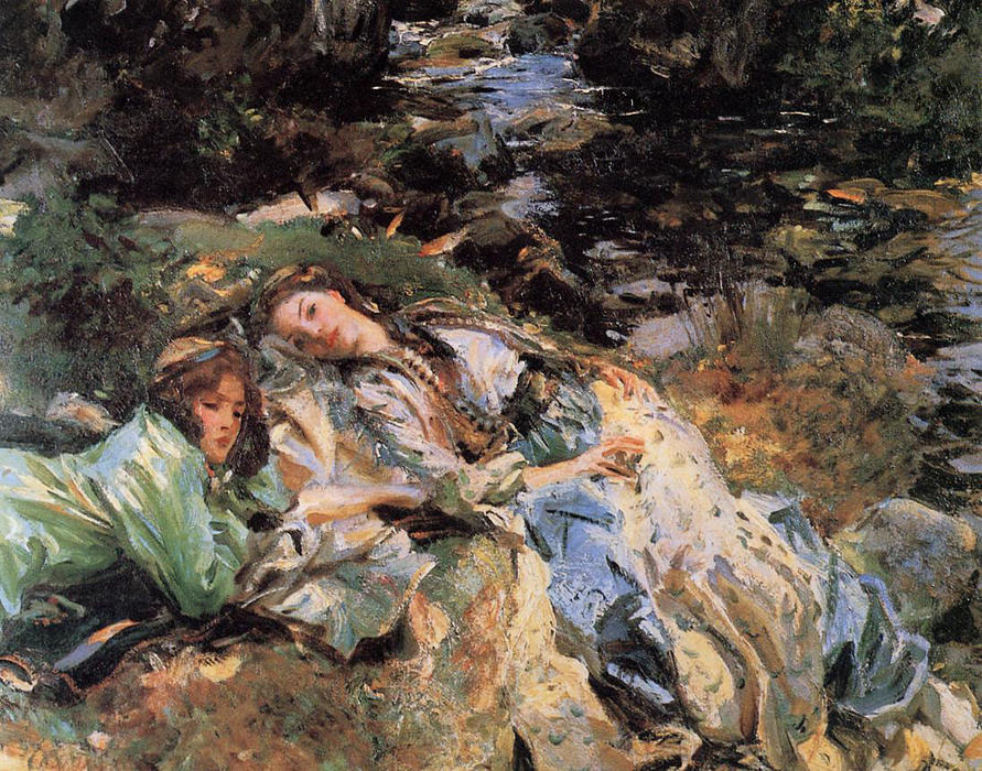 famous painting The Brook of John Singer Sargent