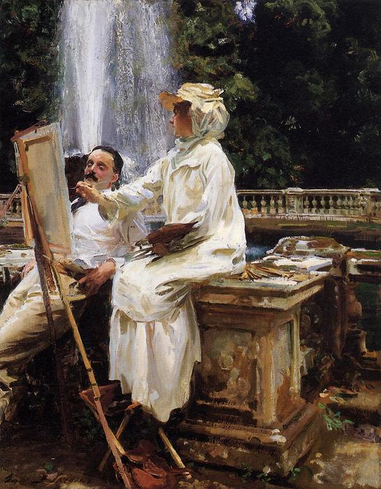 famous painting The Fountain, Villa Torlonia, Frascati, Italy of John Singer Sargent