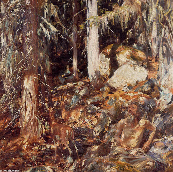 famous painting The Hermit of John Singer Sargent
