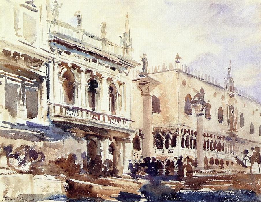 famous painting The Piazzetta and the Doge's Palace of John Singer Sargent