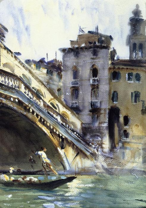 famous painting The Rialto. Venice of John Singer Sargent