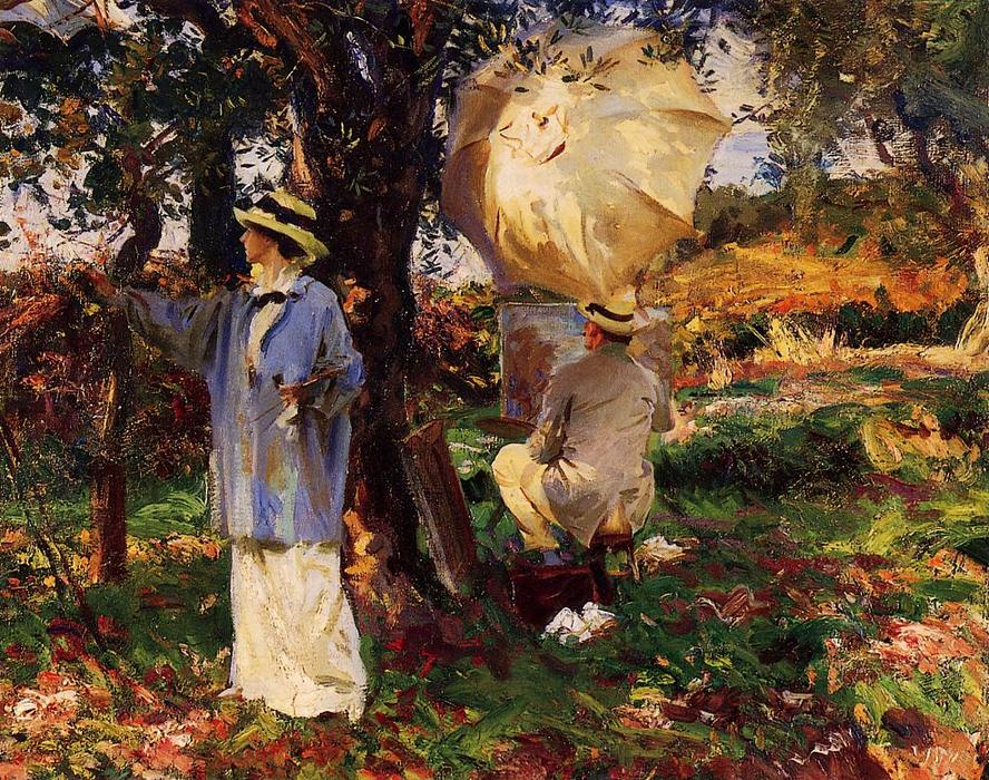 famous painting The Sketchers of John Singer Sargent