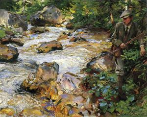John Singer Sargent - Trout Stream in the Tyrol