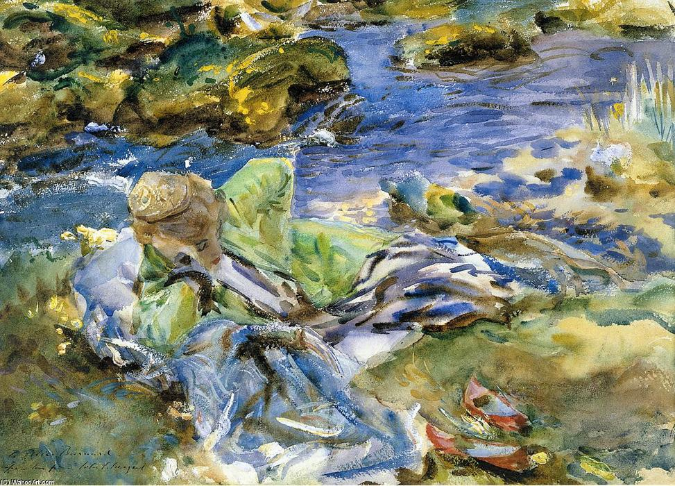 famous painting Turkish Woman by a Stream of John Singer Sargent