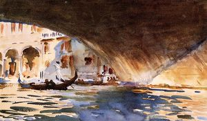 John Singer Sargent - Under the Rialto Bridge