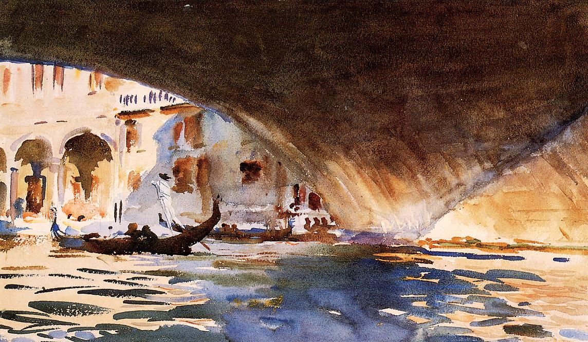 famous painting Under the Rialto Bridge of John Singer Sargent