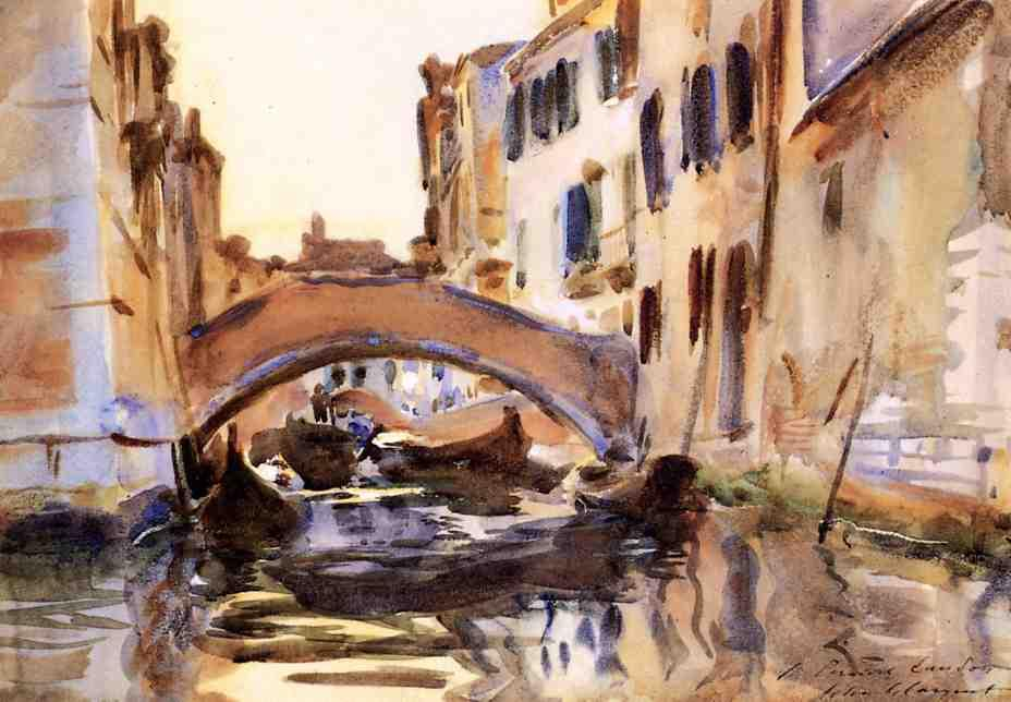 famous painting Venetian Canal of John Singer Sargent