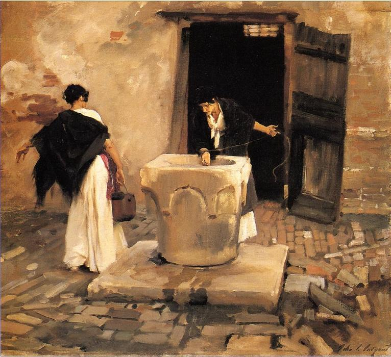 famous painting Venetian Water Carriers of John Singer Sargent