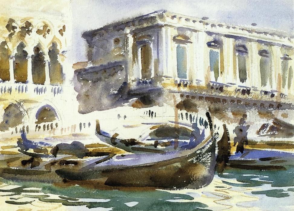 Buy Museum Art Reproductions Impressionism | Venice. The Prison by John Singer Sargent | TopImpressionists.com