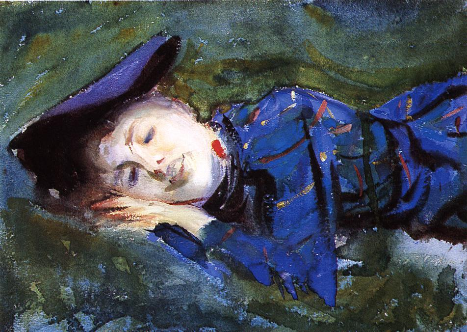 famous painting Violet Resting on the Grass of John Singer Sargent