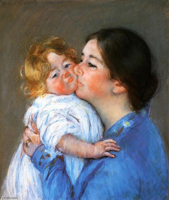 famous painting A Kiss For Baby Anne of Mary Stevenson Cassatt