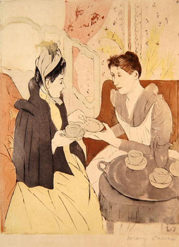 famous painting Afternoon tea party 1 of Mary Stevenson Cassatt