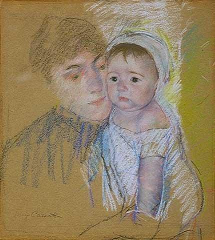 famous painting Baby Bill in His Cap and Shift, Held by His Nurse of Mary Stevenson Cassatt